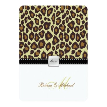 Elegant Leopard Wedding Invitation