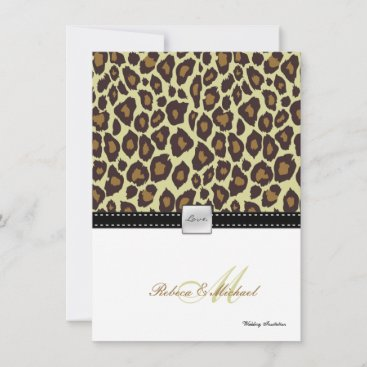 Elegant Leopard Wedding Invitation