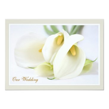 Elegant Lillies Wedding Invitations