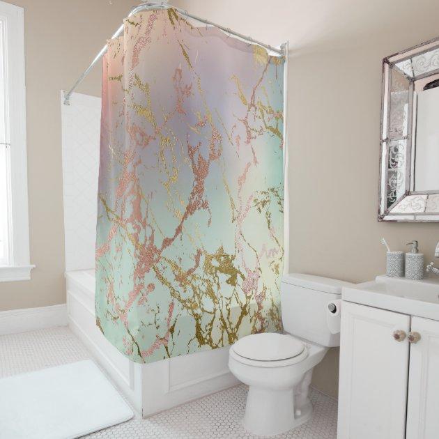 elegant marble copper sage mint green rose gold shower curtain zazzle com
