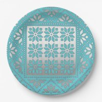 Elegant Mexican Pattern Paper Plate | Zazzle