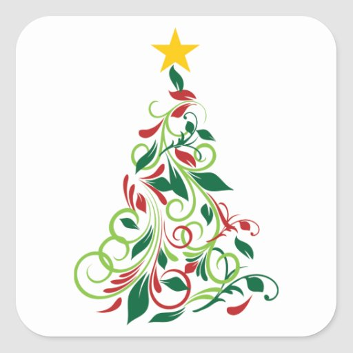 elegant modern christmas tree illustration