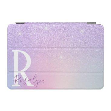 Elegant modern stylish girly ombre purple glitter iPad mini cover