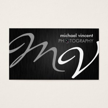 Elegant Monogram Photography Business Card