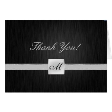 Elegant Monogram Thank You Card