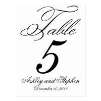 Elegant Monogram Wedding Table Number Cards | Zazzle