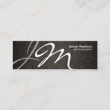 Elegant Photography Damask Business Card