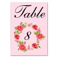 Elegant Roses Table Number Card | Zazzle