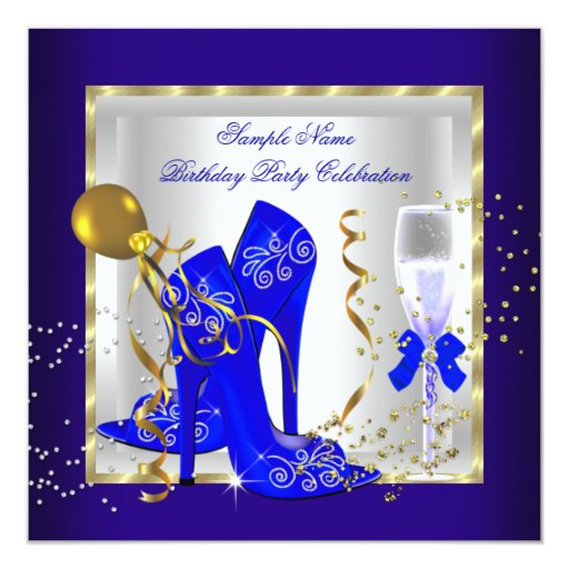 Custom Glitter Invitations