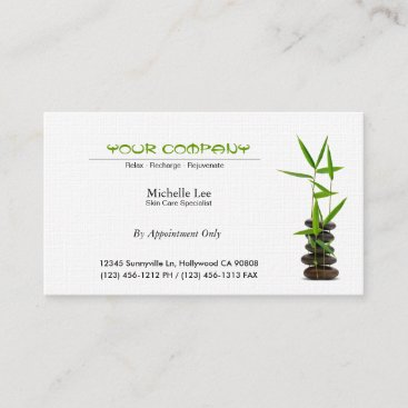 Elegant Spa / Skin Care / Massage Zen Appointment Card
