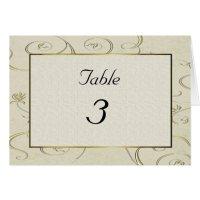 Elegant Table Number Card | Zazzle