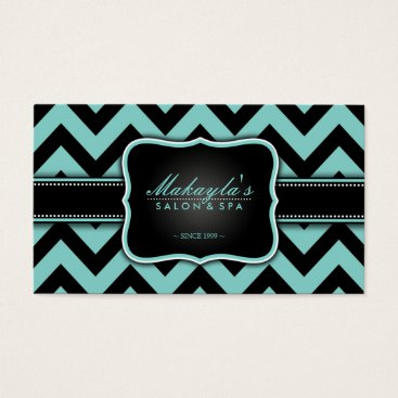 Chevron business cards eatlovepray elegant teal blue and black chevron pattern business card colourmoves Gallery