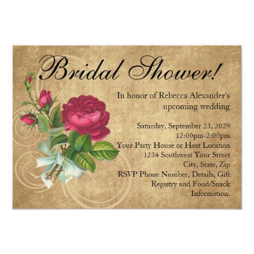 Fancy Bridal Shower Invitations
