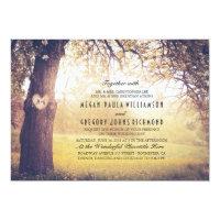 Elegant Vintage Tree Wedding Invitation