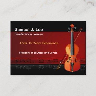 Elegant Violin Lessons Business Card