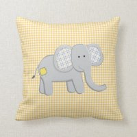 Elephant and Alligator Pillow