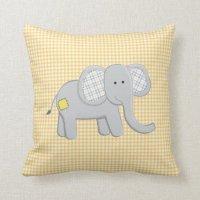 Elephant and Alligator Pillow | Zazzle