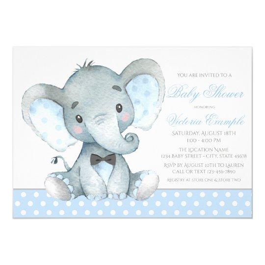 Girl Elephant Baby Shower Plates