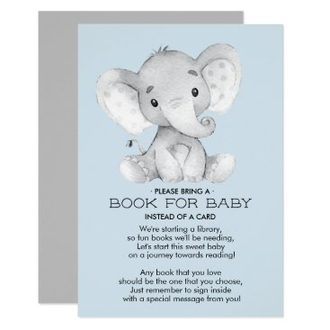 Elephant Baby Shower Book for Baby Card