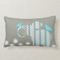 Elephant & Birds Pillow