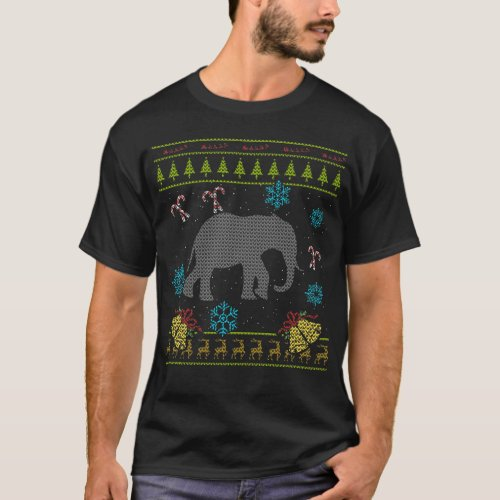 Elephant Christmas Ugly Shirt Sweater Ugly Design