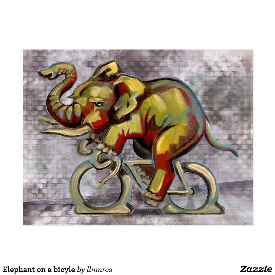 Elephant on a bicyle