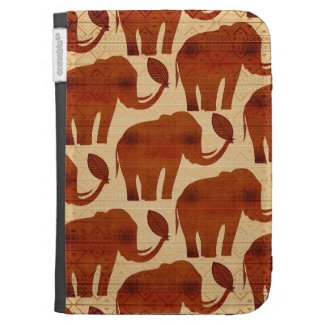 Elephant Tribal Art Design Caseable Kindle Folio