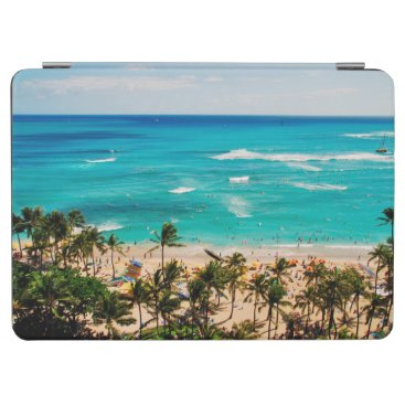 Elevated View Of Waikiki Beach Scene, Honolulu 2 iPad Air Cover