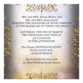 Elite Elegant Wedding Set Beige Gold Announcement