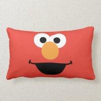 Elmo Face Art Lumbar Pillow   Zazzle
