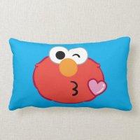 Elmo Face Throwing a Kiss Throw Pillow   Zazzle