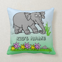 Ely the Elephant - Sees a Mouse Kid's Pillows