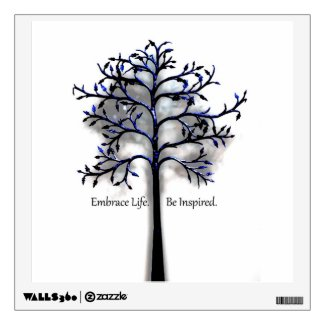 Embrace Life. Be Inspired. Room Stickers