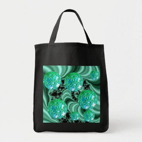 Emerald Satin Dreams - Abstract Irish Shamrock Tote Bag