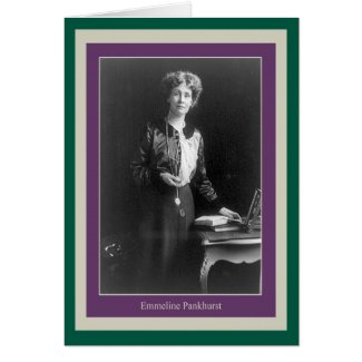 Emmeline Pankhurst Greeting Card