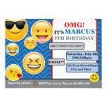 Emoji Birthday invitation card boy or girl
