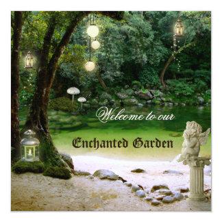 Enchanted Garden Or Forest Wedding Invitation