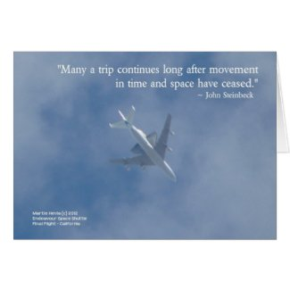 Endeavour Space Shuttle | Famous Words Card