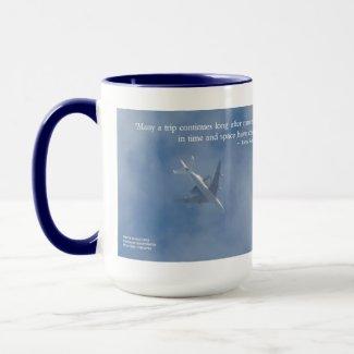 Endeavour Space Shuttle   Famous Words Mug