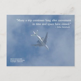 Endeavour Space Shuttle | Famous Words Postcard