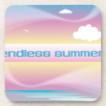 Endless Summer Pastels cork coasters
