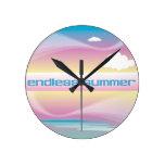 Endless Summer Pastels wall clocks