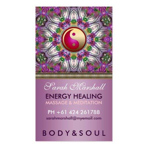 Energy Healing Holistic Pearl Star Business Card