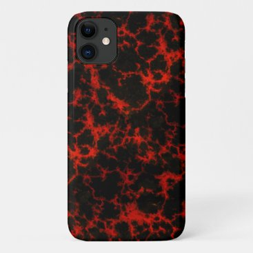 Energy Red and Black Flames iPhone 11 Case