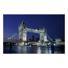 England, London, Tower Bridge 3 Poster