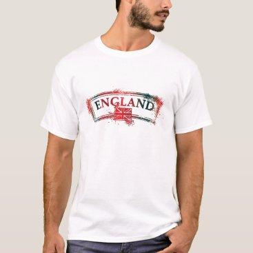 England Vintage Postage Seal T-Shirt