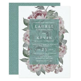 Vine Style English Garden Wedding Invitation Jade