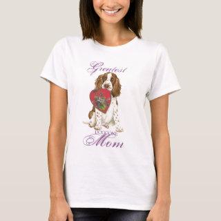 English Springer Spaniel Heart Mom T-Shirt