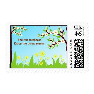 Enjoy the spring season stamp