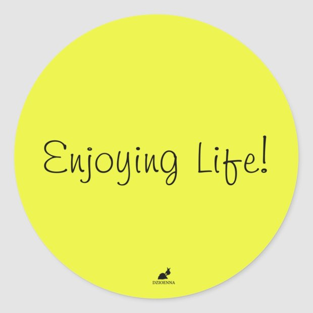 Enjoying Life! Stickers in Light Brilliant Yellow